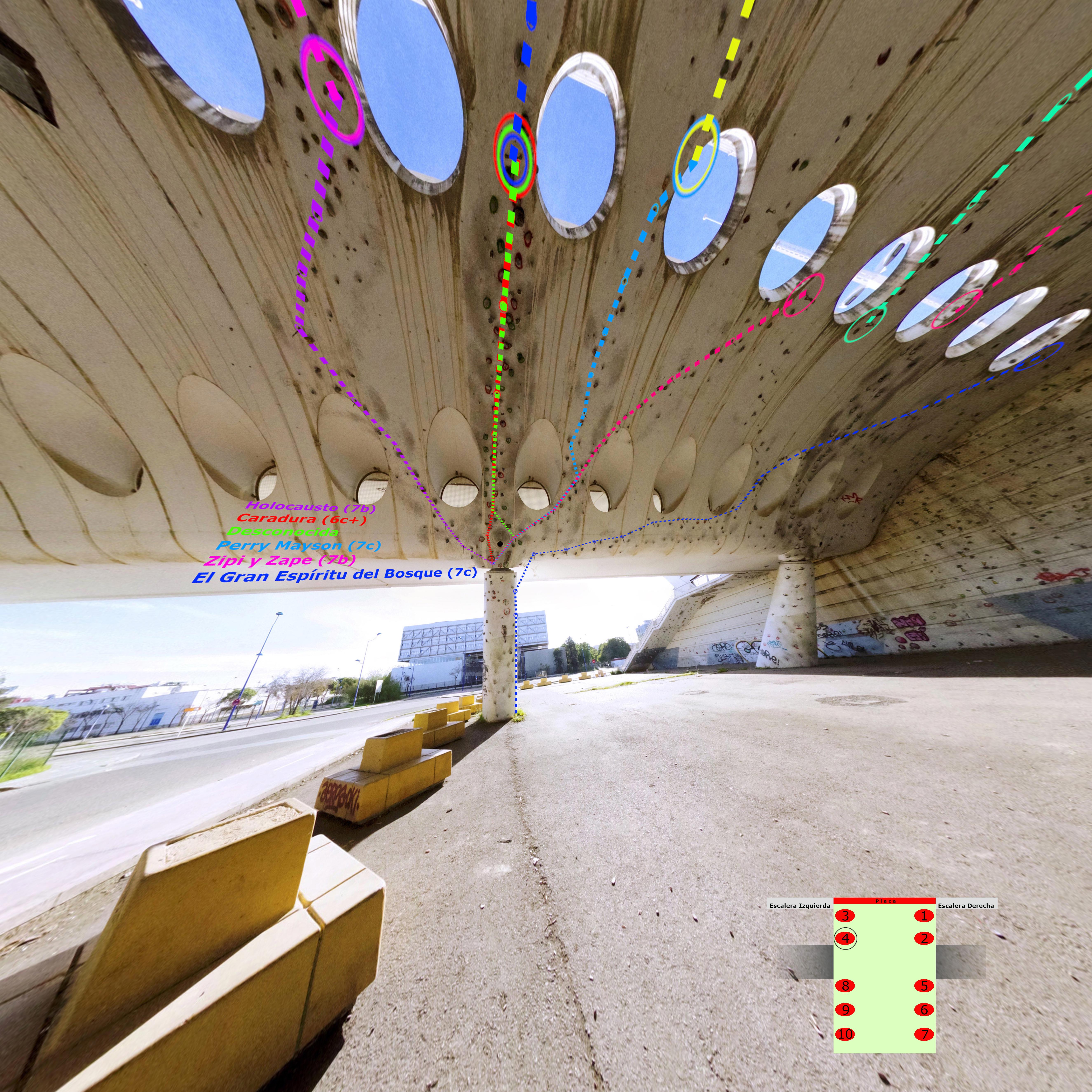 Croquis Puente Alamillo Columnas 5 y 6