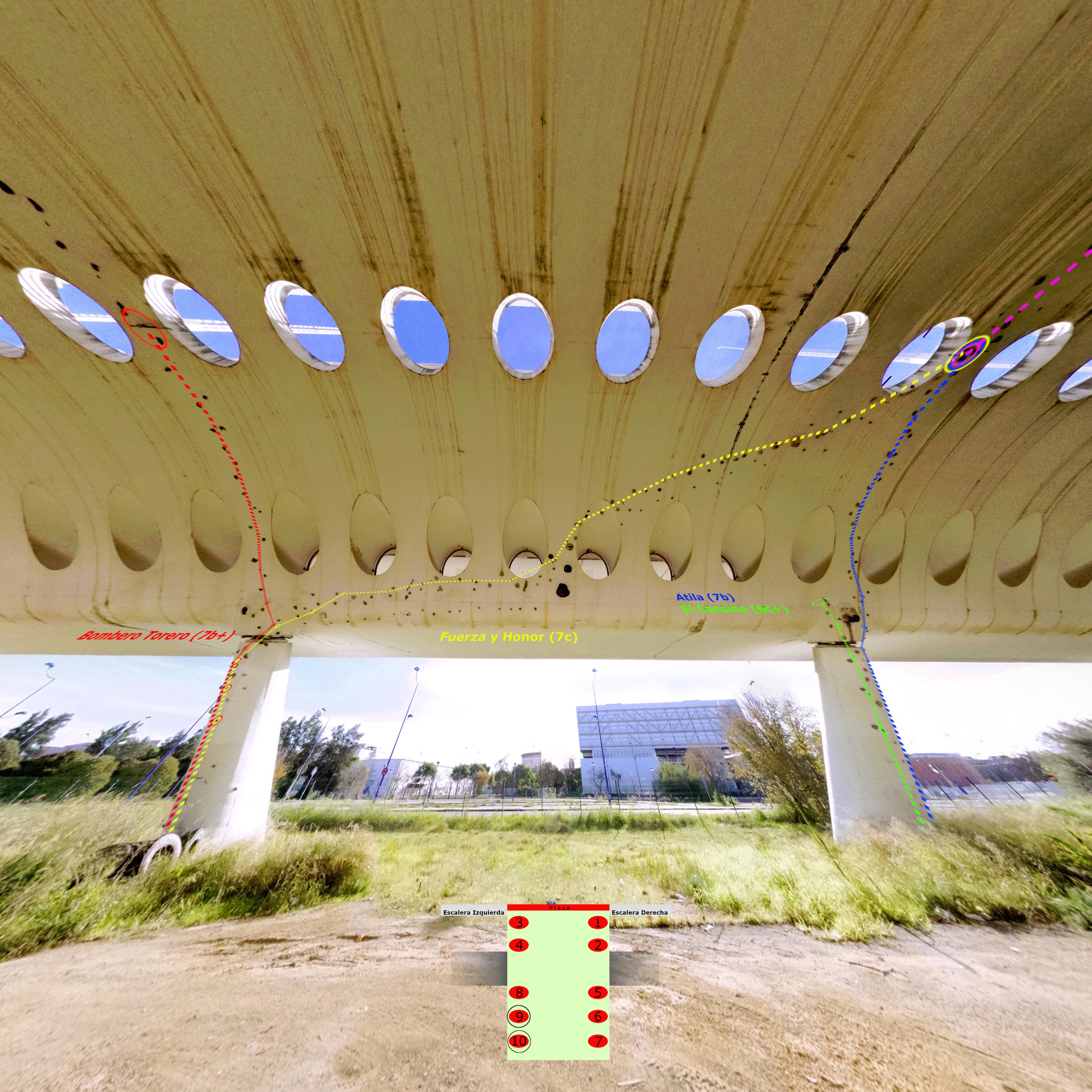 Croquis Puente Alamillo Columnas 9 y 10